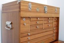 Wood Tool Box / Chest / workshop / Workshop tools storage ideas / by Woodford Woodworking Tools and Machines UK.