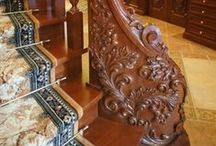 Beautiful Wooden Stairs. / by Woodford Woodworking Tools and Machines UK.