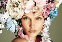 FLOWERS & GIRLS ▲ / Flowers / Fashion / Style / Girls / Woman / Summer / Spring / Women / Flower / Peonies / Hair / Wardrobe / Hairstyle / Crown / Hippie / Boho / Bohemian / Love