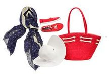 Ship To Shore / Set Sail: Embellish any coastal outing with nautical jewelry, totes, shoes and scarves.