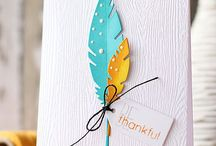 Feather cards and tags / by Debi Pursley