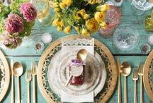 Easter Table Settings / Easter Table Decor - Tablescapes - Settings