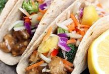 Taco Night / What's for dinner? Here's a board full of taco recipes for your Taco Tuesday or any other day of the week!