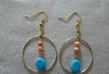 One-of-a-kind Earrings / Hand-made earrings by me. Unique designs. A choice for everyday.