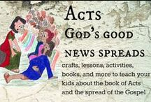 Acts / Acts Bible activities  Acts Bible craft for kids / by Ticia Adventures in Mommydom