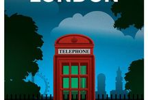 London (graphics) / by Andrea Fair