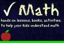 hands on math / Math ideas for kids.  Math homeschool lessons, and math hands on lessons / by Ticia Adventures in Mommydom