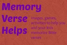 memory verse helps / Memory verse activities / by Ticia Adventures in Mommydom