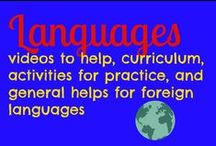 languages / lessons, videos, curriculum, activities to learn foreign languages / by Ticia Adventures in Mommydom