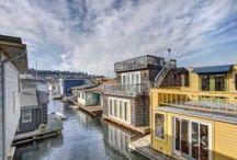 Seattle Houseboats / Seattle floating homes on Lake Union and Portage Bay. SeattleAfloat.com