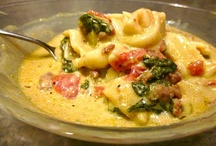 FOOOOOD: pasta and soup