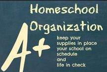Homeschool organization / Organization ideas for your homeschool or classroom.  Organizing books, craft supplies, school room, and more. / by Ticia Adventures in Mommydom