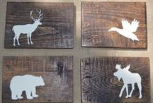Creative ideas with wood 2 / Neat ideas to make with old wood, new wood, pallets / by Carol Boyd