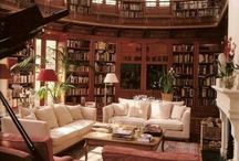 Libraries / I love books even though I am not a big reader. I'd love to have a library room at home. A piece where you can relax while having a little drink and a good story to read!