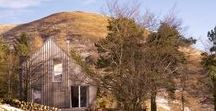 Westside Woodshed / Architect designed holiday house in the Pentland Hills Regional Park near Edinburgh. Westside Woodshed build using CLT timber, with oak & plywood detailing  Architect: Roxburgh McEwan  Modern Architecture Scotland, Nominated for a Saltire Architecture Award