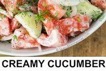 Lehké a lákavé saláty/Light and tempting salads :) / Salátky nejen pro ty co drží diety :) myslím, že nikomu neuškodí, když si dá k masu přílohu zdravější salát než tučně a nezdravé hranolky :)
