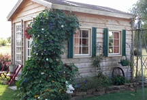 Garden Sheds and Garden Ideas / My obsession! I just think garden sheds are so fun, and you see so many unique ones.  I'm constantly looking for new ideas to implement in my own garden and yard.
