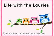 Life with the Lauries / You can follow along and see that special needs homeschooling is a wonderful way of life! Homeschooling with medical and learning issues.