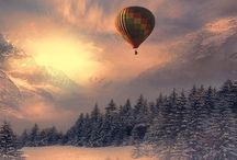 Hot Air Balloon. / Let's spend the afternoon on a Hot Air Balloon.