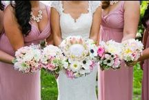 weddings-wedding flowers / Fall in love with these floral designs as inspiration for your wedding! Beautiful blooms, bouquets and floral arrangements we love!