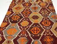 kilim rug & slim rug / vintage oushak rug,turkish rug,carpet,anatolian rug,antique rug