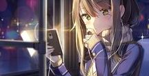Anime Girls Castaña