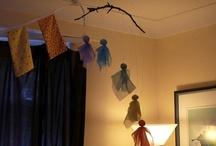 Girls' attic room