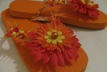 my flip flops / I love to embellish flip flops  with acrylic beads and beautiful flowers. Most of the flip flops you see in the pictures are made on custom order, some are for sale. You can order some flip flops of your own by going to my website, or contact me on Pinterest
