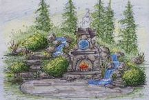 fireplaces and firepits / fire adds movement, sound, and obviously warmth to the garden