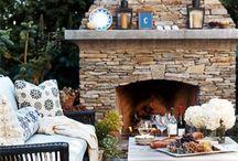 Outdoor fireplace / by Ramshackle Genius