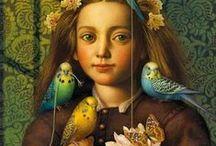 ♥ ARTwork - girl with bird