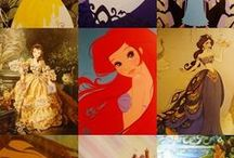 Disney Princesses (Middle Kingdom) / Ariel, Jasmine, and Belle. Plus other leading ladies that came around during 1989-1994. / by Sydney Zwart