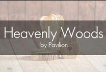 Heavenly Woods by Pavilion® / Heavenly Woods is a beautiful and unique woodland collection inspired by the early decorative tradition of hand-whittled pine. Their natural wood grain look and earthy color scheme inspire the feeling of bringing the outdoors in. Angels, ornaments, animals, and keepsake boxes feature heartfelt sentiments of love, family, friendship and nature. Heavenly Woods is the perfect way to accentuate your decor.