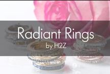 H2Z Radiant Rings / Glass crystal elements shine in these stacked statement rings that complete any outfit through every season of the year. Four unique bands are hinged together to create a bold, bright and illuminated ring that is easy and comfortable to wear. Perfect for gift-giving, each ring is packaged in a gift-ready white box.