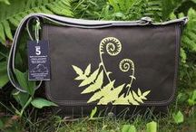 Northwoods Messenger Bags / Handcrafted canvas messenger bags and laptop bags embellished with original art prints inspired by the north woods of Minnesota