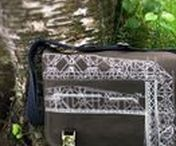 Laptop Bags / Handcrafted canvas messenger bags and laptop bags embellished with original art prints inspired by the north woods of Minnesota and the Duluth Aerial Lift Bridge