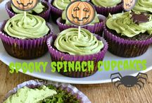 Halloween cupcakes / Spooky Spinach Cupcakes gluten free dairy free sugar free cupcakes made with matcha tea and spinach. Healthy Halloween Recipe