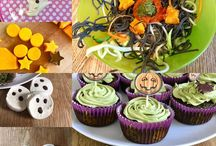 Halloween ideas / Healthy Halloween treats. Green spinach cupcakes. Healthy Halloween ideas. Spinach and matcha tea cupcakes. Gluten free. Dairy free. Halloween.
