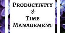 Productivity & Time Management / Time management for bloggers, productivity tips for bloggers, hacks to make life easier, strategies. #makelifeeasier #timemanagement #productivity