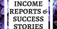 Income Reports & Success Stories / It is so great for new bloggers to see what it takes and how long it takes to earn money blogging. This board is for success stories! #successstories #incomereport