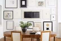 On the Walls / Art walls, gallery walls, wallpaper and all sorts of interesting ways to finish and style your walls.
