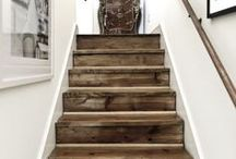 Stairways / The most creative and cool stairs and DIY ideas for updating stairways and creating storage using space under stairs.