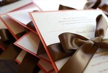 Faire-part Ruban Mariage / Mariage Ribbon Bow Wedding Invitation