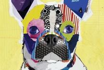 Dog art by Michel Keck