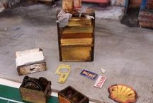 DİORAMA/cardboard/auto garage / paper art/handmade-cardboard paper recycling/die_cast