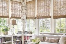 Window Treatments / The best ideas and styles of window treatments for windows big and small.