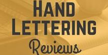 Hand lettering reviews / This is the perfect board for those who wish to learn more about hand lettering products, online classes and nifty tips and tricks on how to improve your hand lettering even more! Here we publish awesome hand lettering products, interesting articles and much more