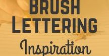 Brush lettering inspiration / Hello creative people! This board is all about brush lettering! Especially dedicated to brush lettering beginners but also for those who are more experienced. Here you will be able to find things such as brush lettering worksheets, brush lettering quotes, brush lettering tutorials, brush lettering inspiration and much more!