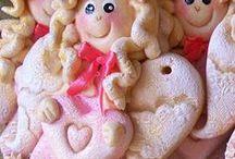 Masa solna - Walentynkowe Aniołki (różowe)