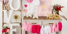 Valentine's Day Decor & Crafts / Love is in the air – are so are wonderfully lovely Valentine's Day crafts! Create a party to remember with DIY decorations, homemade cards and sweet treats everyone will love!